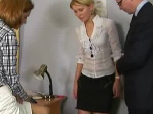 Nude job interview for shy blonde teen secretary