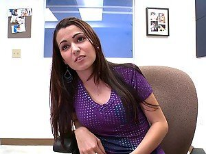 Naughty Cubanita Bella likes it big and deep in the office