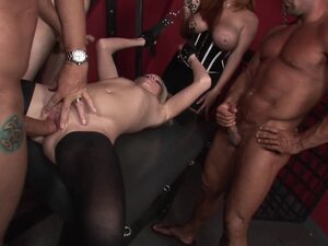 Hardcore BDSM sex with slender blonde