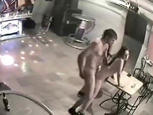Couple of nude fricks fucking in the club having no idea about the security cam