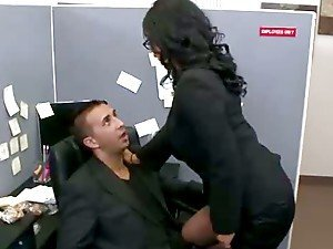 Hardcore Office Fuck For Stunning Brunette Skank