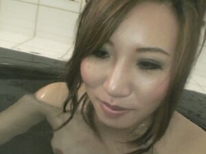 Naked hot Japanese girlie Chisa Hirahara wants to take bath together with you