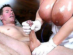 Hot Babe Gives One Hell Of A Handjob As Her Big Tits Are Oiled Up