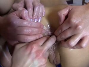 Hot lesbian oil and fist their asses