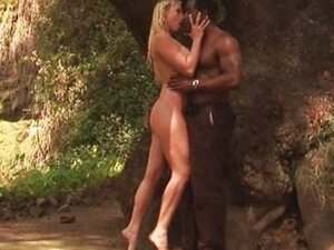 Interracial fucking in the woods
