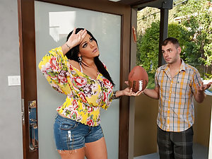 Ralph comes over to his neighbor's place because her sons are throwing things into his yard. Angelina is a single mom, and her sons are at their father's place so she can't discipline them. But she lets him into her house and then decides to make it up to