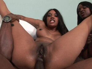 Brown ladies Stacy and Capri sharing sweet chocolate sperm