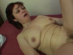 He gets to fuck a hairy mature pussy hard