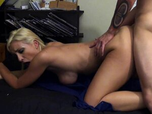 Busty blonde gets doggy fucked