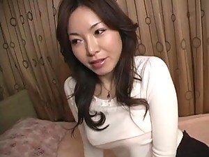 Horny and Busty Japanese MILF Gets Her Shaved Pussy Fucked and Creampied