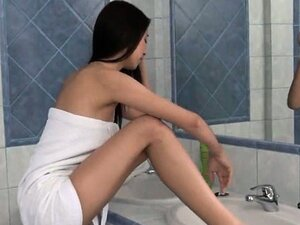 Paula tease snatch in the bath tube