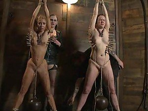 Hot Bondage Scene With Innocent Babes