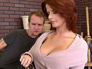 Forxy Redhead MILF Joslyn James Gets Cum on Her Big Tits In The Office