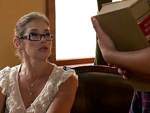 Kinky Blonde Teacher Dominating and Face Sitting Her Student