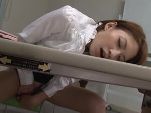 Beautiful Risa Mizuki fingers her tight pussy in the office