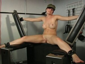Hot army babe forced to squirt in bondage scene