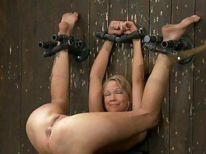 Blonde Babe Bound & Banged