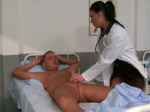 Doctor gives that patient a handjob and BJ
