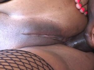 Ebony anal action with Stacey Cash