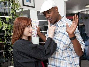 Violet Monroe is a red headed piece of ass. She goes Interracial and takes some black dick.
