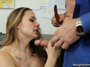 Chanel Preston solves financial problems by giving blowjob and her pussy