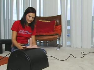 Teen Uses Her New Fucking Machine For The First Time