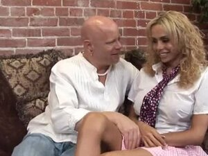 Busty Gia Darling gets laid with a bald homosexual