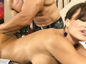 Lisa Ann can expect more than just erotic massage