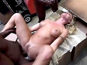 Warehouse Gangbang For Horny Housewife