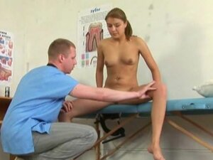 Kinky doctor explores teen babe