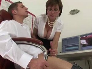 Mature stocking fetish brit Lady Sonia sucks the hard big black cock of a very lucky guy