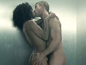 Hot Interracial Sex In The Shower With Ebony Soldier Misty Stone