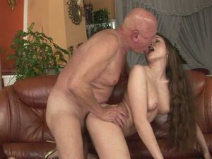 Hot Teen Gets Her Pussy Ravaged By Grandpa