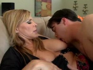 hot blonde milf fucks younger guy