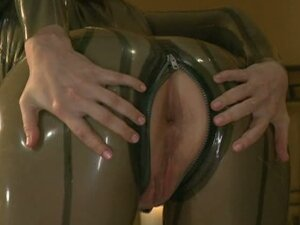 Babies in latex masturbate and play with anal toys