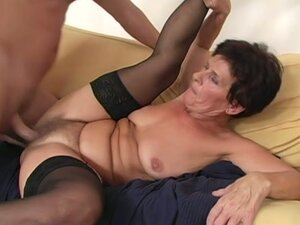 Dude Fucks Grandma & Cums On Her Bush