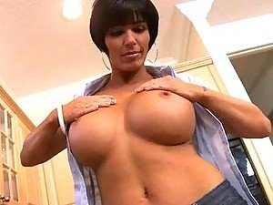 Shay Fox Masturbates and Sucks Cock in the Kitchen