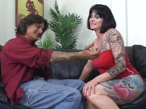 Tattooed babe Mika Kani wants her fucker to fuck her from behind