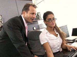 Sexy secretary gets fucked hardcore by her boss