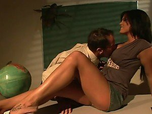 Busty Brunette Mckenzee Pierce Fucking The Teacher Over His Desk