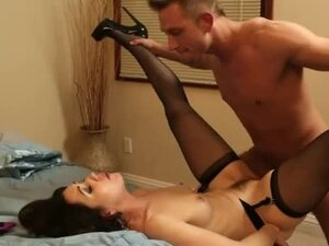 Beauty in stockings and heels fucked hardcore