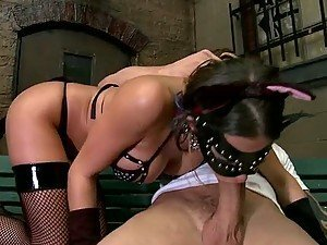 Masked Slut Rachel Roxxx Getting Her Ass Toyed and Fucked
