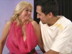 The super-busty MILF gets ass-fucked