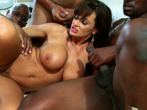 Three black cocks at once is not a limit for Lisa Ann