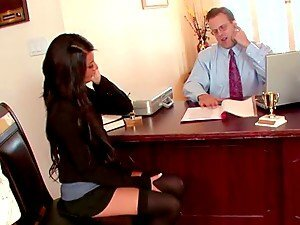 Geeky Boss Teaches His Gorgeous Secretary A Hard Lesson