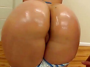 Voluptuous Brunette Gets Her Big Ass Oiled Up And Fucked Hard