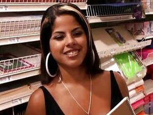 Pretty latina Lyine Fox picked up in a store