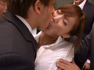 Hot Japanese MILF Gets Gangbanged By Several Horny Guys