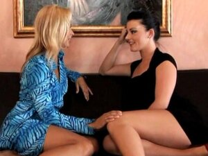 Payton Leigh and Sophie Dee enjoy a cock share