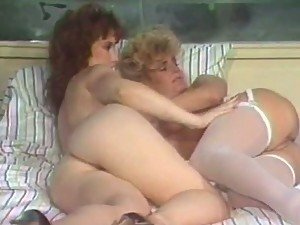 Amazing Retro Lesbian Action With Susan Hart & Taija Rae